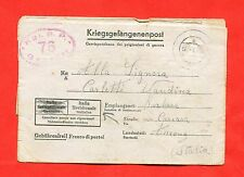MILITARY - World War 2/ WW2 -Italian prisoner -STALAG I B - HOHENSTEIN (384-d53)