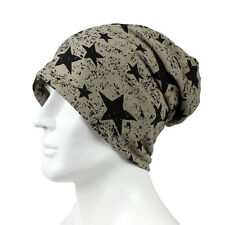 Men Wooly Stars Cotton Slouchy Beanie Hat Casual Ski Oversized Cotton Cap New