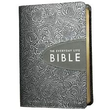 The Everyday Life Bible, Bonded Leather, Hand-Tooled    Pewter with Graphite