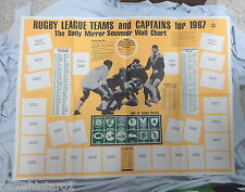 #T103.  1967  DAILY MIRROR  RUGBY LEAGUE CARD WALL CHART