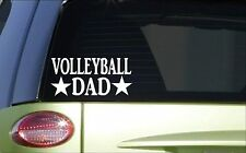 Volleyball Dad *H888* 8 inch Sticker decal serve net pass set spike beach