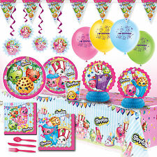 Deluxe Shopkins Girls Birthday Party Pack Decoration Kit For 16