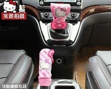 2 Pcs/set Handbrake Gears Cover Hello Kitty Styling Car Accessories Interior #2