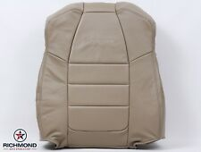 2002 Ford F350 Extended QUAD Super-Cab -Driver LEAN BACK Leather Seat Cover Tan