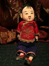 ANTIQUE CHINESE COMPOSITION GIRL DOLL