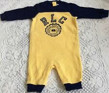 New Baby Boys Ralph Lauren Long Sleeves  Graphic  Coverall Body Suit/Romper 6M