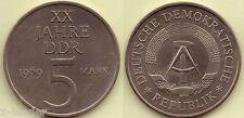 1969 A * 5 Mark XX Jahre DDR, seltenes vz/unc, rare xf, Originalbild #