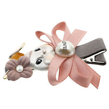 Luxury Blush Pink Rabbit Bow Girl Outfit Head Slide Hair Clip Accessories HA299