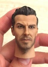 "Custom 1/6 Scale David Beckham Head Sculpt for 12"" Hot Toys Male Figure Body"