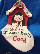 (NEW) YULE RITE: CAT SANTA I HAVE BEEN GOOD  CHRISTMAS STOCKING