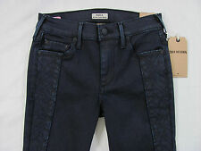 True Religion Halle Super Skinny Mid Rise Jeans-Coated Night -Size 25- NWT $268