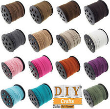 3Meter X 12 Color Genuine Leather Suede Cord Beading Thread Lace Flat Jewellery