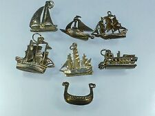 Vintage 925 Sterling Silver Charm JOB LOT SHIPS BOATS YACHTS 22g a552