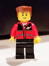 Lego Train Station 7997 Minifigure Lot of 1 # trn140 Passenger in Red Jacket