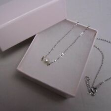 Mikimoto Akoya Pearl Sterling Silver Pendant Necklace 6MM Pearl Authentic!