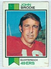 John Brodie 1973 Topps '73 NFC Vintage Football Card #45 VG San Francisco 49ers