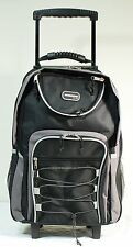 "Black 20"" Large Rolling Backpack Wheeled School Bookbag"
