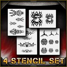 """Tribal Set"" Airbrush Stencil Template Airsick"