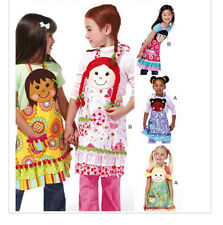 McCall's 6662 OOP Sewing Pattern Kids Aprons with Head & Hair Appliques Ages 3-8