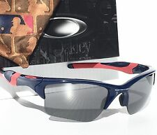 NEW* Oakley HALF JACKET 2.0 Atlanta BRAVES BLUE Black Iridium Sunglass 9154-44