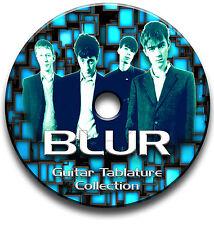 BLUR INDIE ALTERNATIVE ROCK BRITPOP GUITAR TABS TABLATURE SONG BOOK SOFTWARE CD