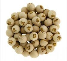 90 boules de Loto numérotées en Bois diamètre 22 mm utilisable Bingo balls 910