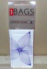 GOLLA BAGS FOR YOUR MP3 IPOD NANO ETC WHITE WITH PURPLE FLORAL DESIGN
