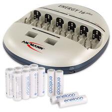 ANSMANN Energy 16 Plus Battery Charger AA/AAA/C/D/E + 12pcs. Eneloop AA