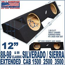 88-98 CHEVY SILVERADO / GMC SIERRA EXT EXTENDED CAB SUB BOX SUBWOOFER ENCLOSURE