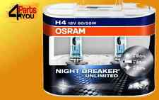2 x H4 OSRAM NIGHT BREAKER UNLIMITED TWIN HARDCASE PACK HEADLIGHT BULBS