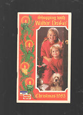 1985 SHOPPING WITH WALTER DRAKE CHRISTMAS CATALOG-104 PAGES