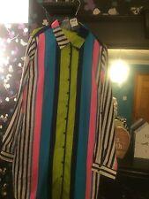 Sz 16 de chimie à rayures ceinturée robe chemise