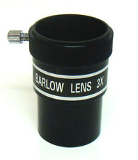 "Telescope Barlow lens. 3x magnification. 1.25"" (31.75mm) fitting diameter"