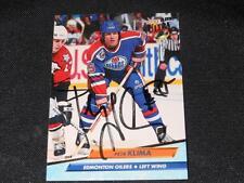 Edmonton Oilers Petr Klima Auto 1992/93 Fleer Ultra Signed Card #59  JB10