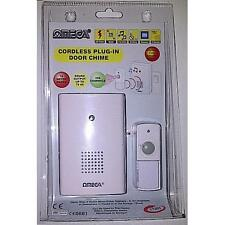 Omega 17301 Mains Plug In Cordless Wireless Door Bell Chime Weatherproof - White