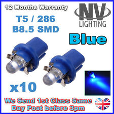 10x Blue B8.5D T5 Gauge LED Speedo Wedge Dashboard Dash Interior Car Light Bulb