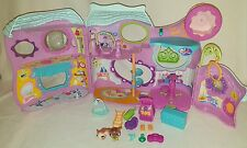 Littlest Pet Shop Purple Fitness Center Playset Play House Pets Accessories LPS