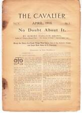 CAVALIER April 1910 pulp excerpt pages NO DOUBT ABOUT IT by Robert Carlton Brown