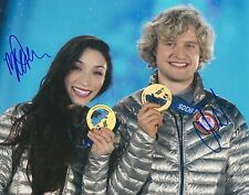 USA OLYMPICS MERYL DAVIS & CHARLIE WHITE Signed GOLD MEDAL Photo with COA