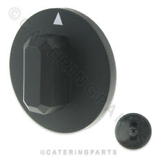 KN45 PUSH-ON 44mm UNIVERSAL BLACK KNOB FOR 3.5mm SQUARE SHAFT TIMER / THERMOSTAT
