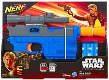 Hasbro Nerf Star Wars Episode 7 Han Solo Blaster with Internal Clip for 4 Darts