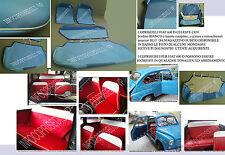 FIAT600 D CELESTE con bordino BIANCO e lunette,cuciture,retrosch e fasc BLU.....