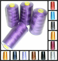 TOP QUALITY SEWING THREAD 120s SPUN POLYESTER, OVERLOCKING 5000YRDS X 4 CONES