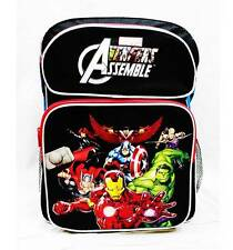 "NWT Avengers 16"" Large Backpack School Bag Hulk, Ironman, Thor, Captain America"