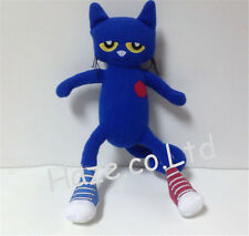 Pete The Cat Doll White Shoes Stuffed Animal Plush I Love My Shoes Merry Toy 14""