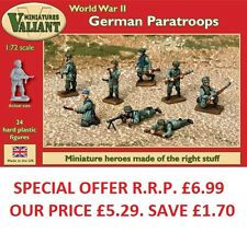 Valiant Miniatures-WWII German Paratroopers Kit/War gaming.