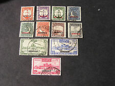 *PAKISTAN, SCOTT # O14-O23(10+O25.TOTAL 11 1948 OFFICIAL STAMPS REPUBLIC ISS USE
