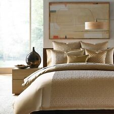 Hudson Park Bedding Collection Delancy QUEEN Duvet Cover Metallic Bronze B1503