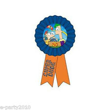 PHINEAS AND FERB GUEST OF HONOR RIBBON ~ Birthday Party Supplies Favor Cartoon