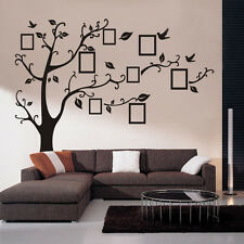 Large Photo Frame Tree Leaf Art Mural Wall Sticker Decal Home Livingroom Decor